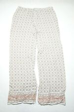 Max Studio Womens Print Casual Lounge Pants Size Small Abstract Floral