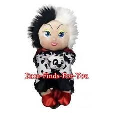 "Disney Parks 101 Dalmations Villain Cruella De Vil Blanket Babies Plush 10"" NEW"