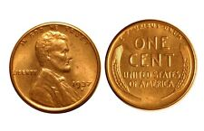 1937-S  Lincoln Cent - DDO-001 Double die obv #1 Choice bu red  #7450