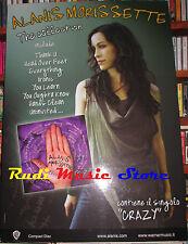 CARTONATO PROMO ALANIS MORISSETTE The collection 48 X 68 cd dvd vhs lp live