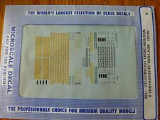 Microscale Decal N  #60-531 NYS&W Diesels - Hoods & Switchers - Yellow & Black S