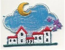 Fairy Tale Star Moon Town Embroidery Applique Patch