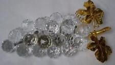Swarovski crystal figurine 23 Grapes gold leaves rhodium Sc stamp