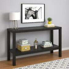 Parsons Console Table Sofa Black Oak Kitchen Entryway Office Storage Furniture