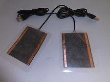 2PK COMPUTER USB POWERED MOUSE PAD HAND FINGER HEATER WARMER HEATING PAD MAT
