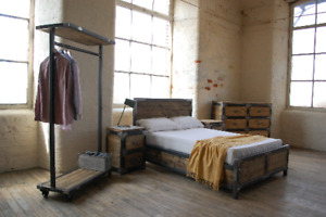 Super Kingsize Industrial chic ottoman bed