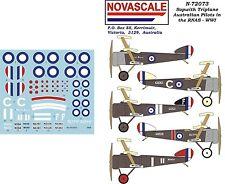 AFC/RNAS Sopwith Triplane WWI Decals 1/72 Scale N72073