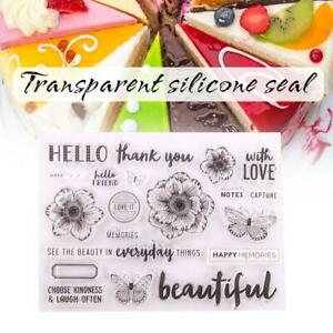 happy birthday transparent clear silicone stamp for diy*scrapbooking photo S5T7