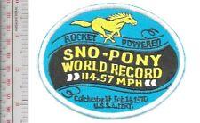 Vintage Snowmobile Sno-Pony Sleds 1970 Saint Paul Minnesota Promo Patch