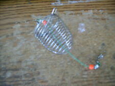 Cage Fishing Trap Basket Feeder Holder Stainless Steel Wire Fishing Lure RS