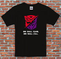 "Transformers Autbots Decepticons ""One shall stand, one shall fall"" T Shirt S-2XL"