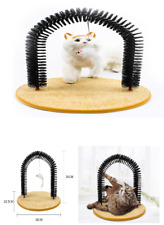 New listing Cat Scratcher Grooming Arch Pet Self Groomer Massager with Funny Toy