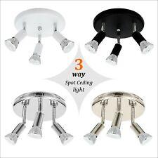 3 Way LED Ceiling Spot Lights Fitting Kitchen Spotlight Bar Lamp GU10 Light Bulb