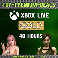 Xbox Live Gold 48 Hour 2 Days Trial 360 One Instant Delivery