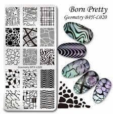 BORN PRETTY Nail Art Stamp Image Plate Geometry Theme Manicure Template BPX-L020