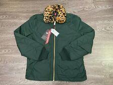 Alpha Industries x UO B-15 Straight Hem Mod Jacket Cheetah Collar Patrol Green L