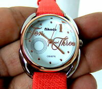 NIKADO BRANDED COLLECTION OVAL WHITE DIAL BEAUTIFUL LADIES WATCH CASE SIZE 26 MM