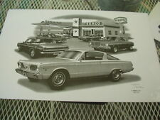 "1966 Baracuda,Thom SanSoucie Signed Print #4102 , 11"" x 17"""