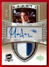 2005-06	UD THE CUP	ROOKIE AUTO PATCH GOLD 2 CLR 20/40	MAXIM LAPIERRE CANADIENS