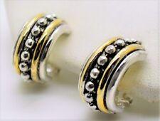E30 Chic Petite Classic Design Style Two tone Hoop Omega Latch Fashion Earring