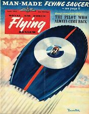 RAF FLYING REVIEW APR 53: BELL X-5/ FLYING SAUCER/ FLYING A VAMPIRE/ FACSIMILE
