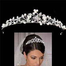 Wedding Bridal Crown Princess Tiara Crystal Rhinestone Prom Hair Headband Silver