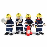 Tidlo Wooden Firefight Figures Play Set Accessories Figurines Mini