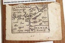 Antique Original Abraham Ortelius Map NAMUR (Region in France) circa 1593