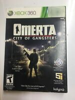 Omerta City of Gangsters Microsoft XBOX 360, 2013 BRAND NEW FACTORY SEALED