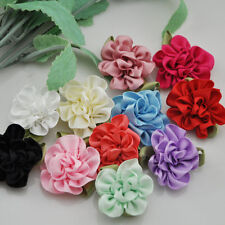 20pcs Beautiful Satin Ribbon Flowers Applique E68