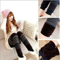 Fashion Womens Warm Winter Knit Snowflake Leggings Xmas Stretch Pants
