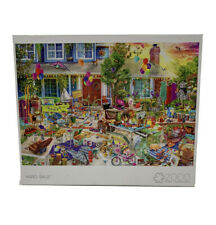 "NEW Buffalo Games Aimee Stewart ""YARD SALE"" 2000 Piece Jigsaw Puzzle"