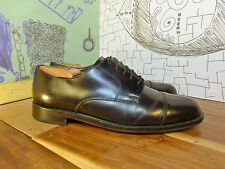 Vintage Cole Haan Burgundy Leather Cap Toe Oxfords Men's 9.5D Made in India