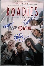 ROADIES CAST SIGNED 11X17 PHOTO LUKE WILSON CAMERON CROWE 4+ DC/COA (RARE)