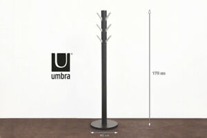 Umbra - Flapper Coat Stand With Flip Down Hooks  ESPRESSO NICKEL  FREE DELIVERY