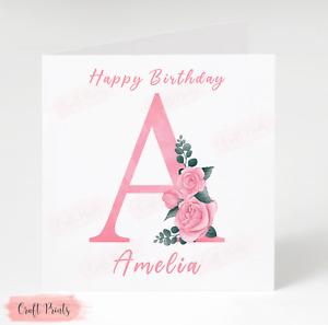 Personalised Birthday Card Friend Daughter Sister Niece Mum Cousin Female Card