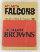 NFL 1972-74 Fleer Team Football Sticker-Atlanta Falcons-Cleveland Browns