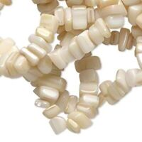 "36"" Strand Mother of Pearl Natural Small Chip MOP Beads"