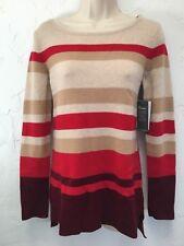 Athleta Beautiful 100% Cashmere Tunic Sweater NWT Striped Size S Small $198