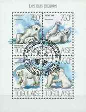 Timbres Animaux Ours Togo 3653/6 o année 2013 lot 26595 - cote : 17 €