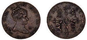 4 COPPER MARAVEDÍS / COBRE. ISABELLA II - ISABEL II. 1848. SEGOVIA. VF+ / MBC+.