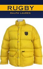 Rugby Ralph Lauren Stuffed winter coat down feathers Yellow Full button Mens (M)