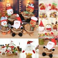 Christmas Santa Snowman Candy Basket Storage Jar Halloween Sweet Box Ornament