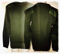 US MARINE CORPS USMC MILITARY UNIFORM 100% Wool SWEATER PULLOVER 46 Excellent