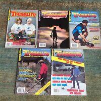 5 Treasure Magazine Lot! 1990 MAY/JUNE/JULY/AUG/NOV Detecting VTG