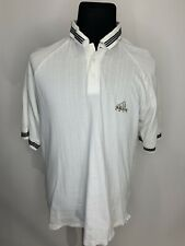 Adidas Men's Athletic Golf Polo Shirt Size Xl Short sleeve White Spell out logo