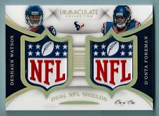 deshaun Watson 2017 Inmaculate ROOKIE NFL Logo Escudo 1/1 RC HOUSTON TEXANS