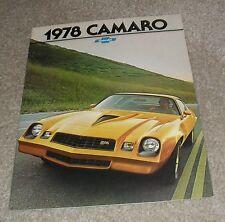 BROCHURE Chevrolet Camaro 1977-1978 Z28-rally sport-tipo LT-mercato statunitense