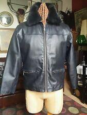 Vintage 1970's 80's David Conrad Leather Bomber Flight Jacket,Medium.vgc
