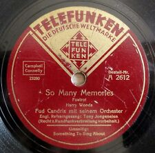 "FUD CANDRIX-aussi many Memories-SOMETHING TO SING ABOUT -/10"" 78 tr/min"